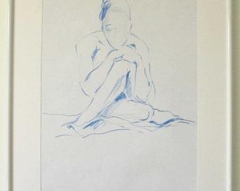 female nude original drawing