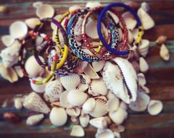 CHACHAWAX bracelets • fabric wax