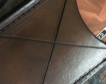 Handcrafted Leather Credit Card Wallet