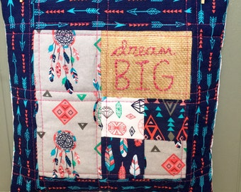Dream Big Quilted Pillow Cover