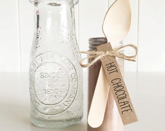 Rustic 'Hot Chocolate' Tags Pk20 / Hot Chocolate Favour Tags Only