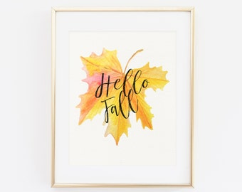 Fall Wall Art fall print | etsy
