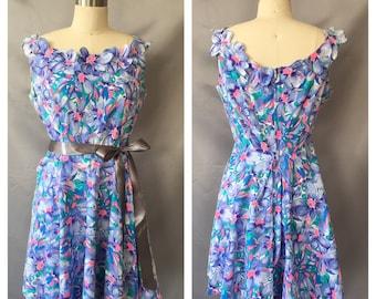 Vintage Tropical Handmade Dress