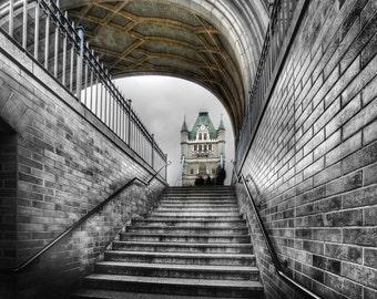 London Tower Bridge Steps