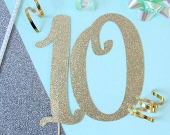 10 Cake Topper // 10th Anniversary Cake Topper // Anniversary Cake Topper // Cake Topper // Celebrate Cake Topper // Love Cake Topper //