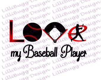 Love My Baseball Player svg