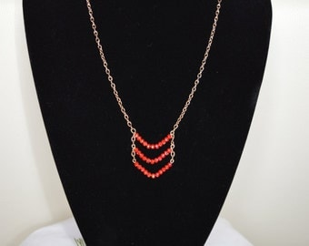 Pendant Necklace with crystals