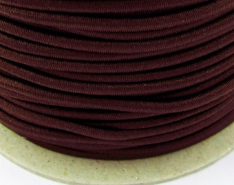 5, 10, 50 m rubber cord 3 mm Brown