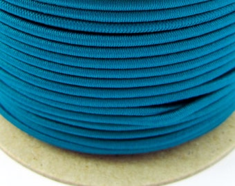 5, 10, 50 m rubber cord 3 mm turquoise