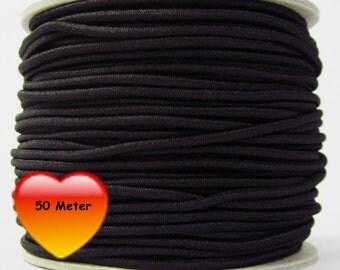 50 M rubber cord 3 mm black