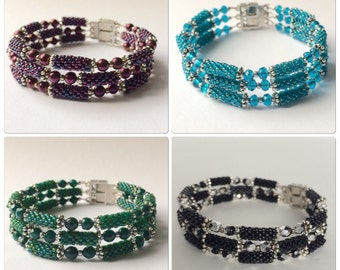 Bracelet with woven beads MADE TO ORDER