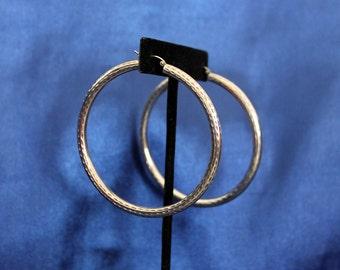 Large Sterling Silver Hoop Earrings - Statement Earrings