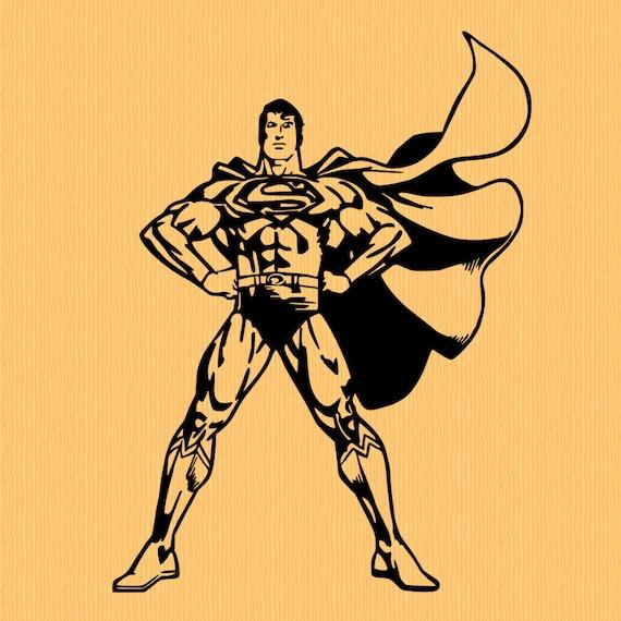 Superman vinyl decal superhero decal supreme sticker for wall Coloring book vinyl