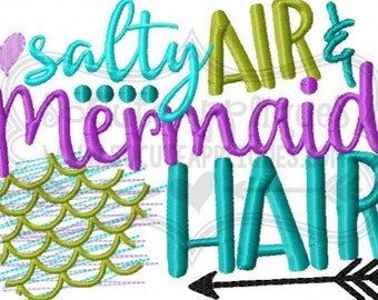 Mermaid shirt, Salty Air and Mermaid Hair