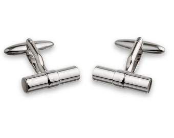 Cufflink Classical with Cylinder Shape and Ring