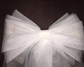Bow Veil with ribbon trim