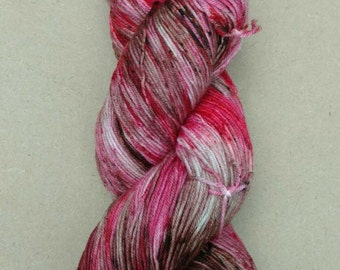 Jasper- Hand dyed yarn, sock weight, Superwash Merino, 463 yards, speckled