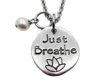 Just Breathe Necklace (Fine Pewter)