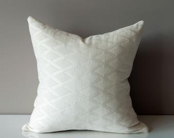 Cream White Pillow Cover - Chenille Pillow Cover - White Pillow Cover - Cream Pillow Cover - Diamond Pattern - Kravet Throw Pillow