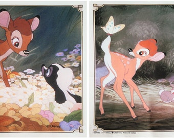 Bambi Character Fabric made in Korea by Panel / Cushion / Pillow Cover