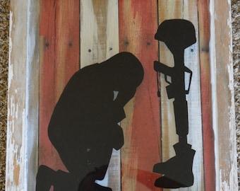 honoring a fallen soldier