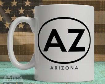 Arizona Mug  - Arizona State Pride Ceramic Coffee Mug - USA