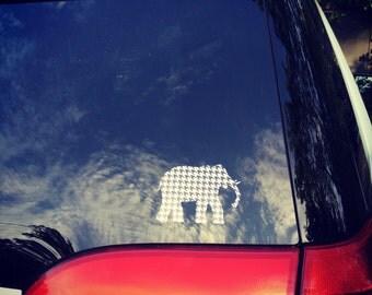 Houndstooth Elephant Car Decal
