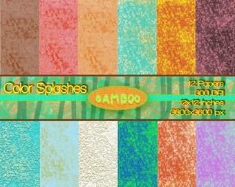 Color Splashes Backgrounds Instant Download
