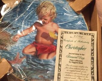 Hamilton Collection plate  Treasured Days Christopher