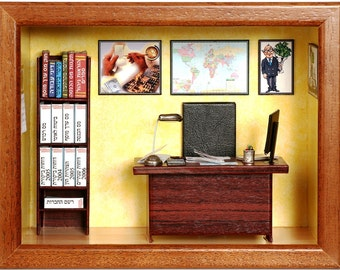 Miniature Accountant room - Personalized gift for accountant, tax consultant, comptroller, financial director or bookkeeper