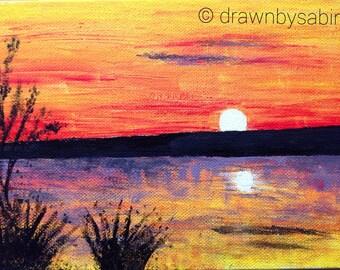 Sunset Acrylic Canvas