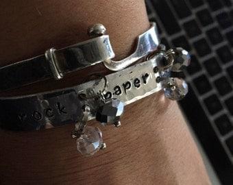 rock paper scissors ~ CUFF Bracelets