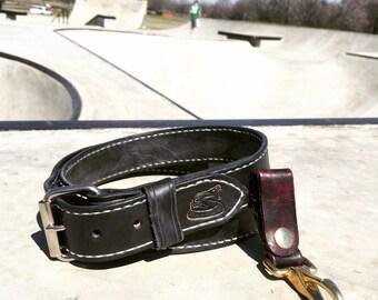 Saddle stitched belt