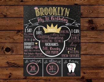 Princess Minnie Birthday Chalkboard