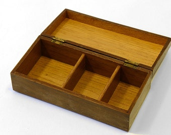 Small hand made oak box