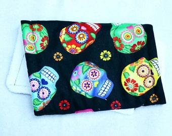 Skulls/ Day of the Dead/ Dia de los Muertos burp cloth or bibdana