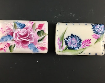 Hand painted soap,Rose,Bathroom soap,Bathroom decor,teachers gift,Wedding gift,Shower gift,Hostess gift,stocking stuffer,rose soap,floral