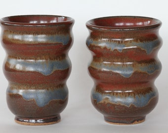 Set Of Pottery Tumblers, Pottery cups, Ceramic cups, Handleless mugs, Ready to ship