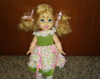 Vintage 10 Inch Mattel Storybook Goldilocks Small Talk Toy