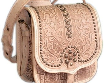 "Leather handbags. ""Hunt met"""