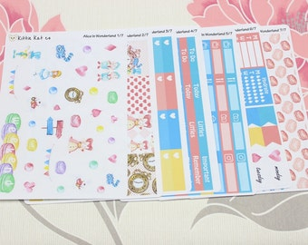 Alice In Wonderland Weekly Kit Stickers