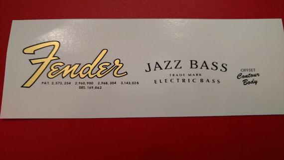 Fender Jazz Bass 61-64' in Bold Mettalic Gold