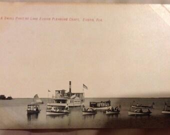 Postcard of Pleasure Craft on Lake Eustis, FL