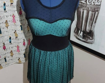 SALE: Turquoise Tiffany Laced Dress Size L