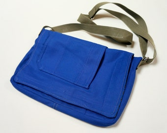 Construction blue bag and cotton ethnic