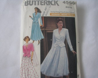 Butterick 4566 Three Pieces: Skirt, Jacket and Scarf