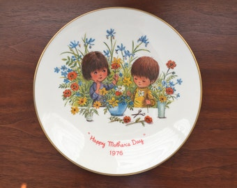 Moppets Gorham China Mother's Day plate