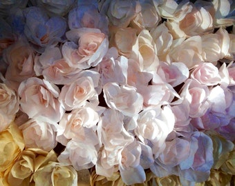 Paper Flowers (12) / Coffee Filter Flowers / One Dozen Paper Roses with Stems