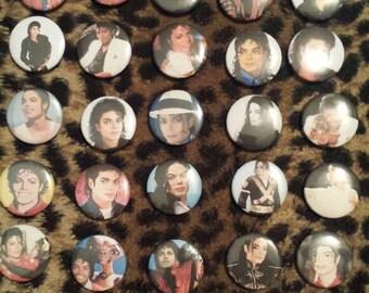 Michael Jackson pin button 30 - 1 inch set