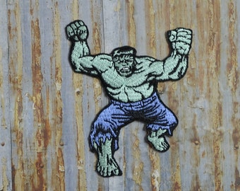 Incredible Hulk Ironman Comic Embroidered Iron On Or Sew On Patch Transfer